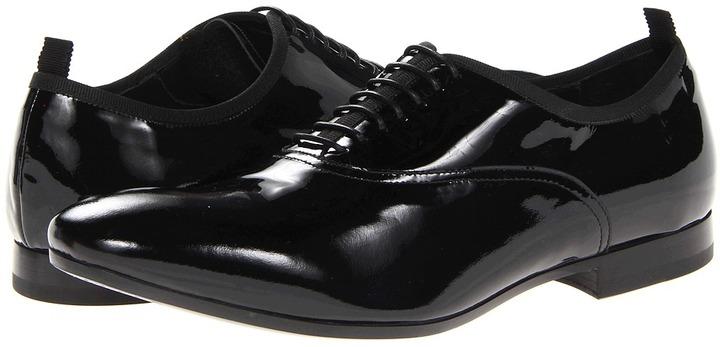 Alexander McQueen Patent Brogue (Black/Black) - Footwear