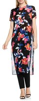 Vince Camuto Women's Floral Rendezvous Long Side Slit Tunic