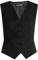 Dolce & Gabbana Polka-dot print wool-blend waistcoat