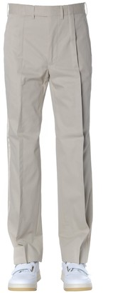 Maison Margiela Beige Cotton Pants With Side Stripes