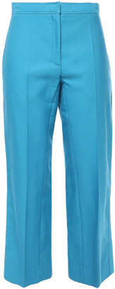 Sandro Allaire Cropped Cotton-blend Straight-leg Pants