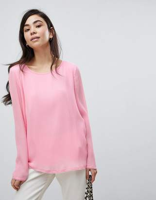 Soaked In Luxury Pleated Blouse-Pink