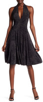 Norma Kamali Printed Halter Flare Dress