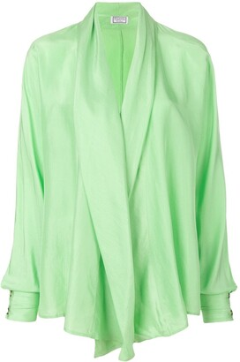 Versus Pre Owned Waterfall Draped Blouse