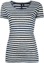 Woolrich striped T-shirt - women - Silk/Linen/Flax - S