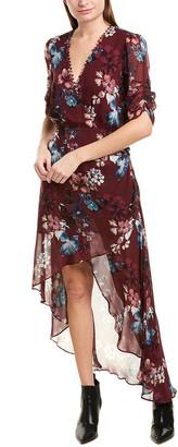 Nicholas High-Low Silk Maxi Dress