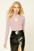 Forever 21 FOREVER 21+ Cutout High-Neck Sweater