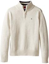 Tommy Hilfiger Edward 1/2 Zip with Rib Stitch Sweater (Toddler/Little Kids)