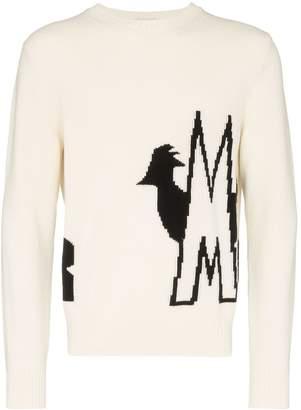 Moncler logo intarsia jumper