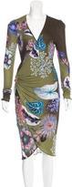 Roberto Cavalli Floral Midi Dress