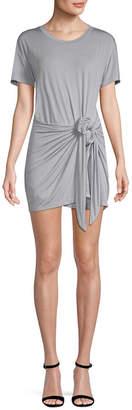 Young Fabulous & Broke Mock-Wrap T-Shirt Dress