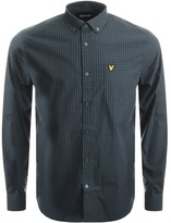 Lyle & Scott Long Sleeved Gingham Shirt Green