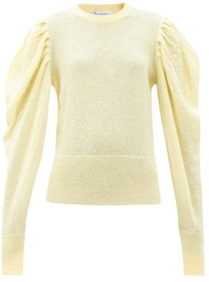 J.W.Anderson Balloon-sleeve Mohair-blend Sweater - Light Yellow