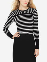 The Limited Striped Crew Neck Sweater