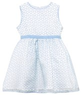 Rachel Riley Blue and Ivory Petal Overlay Dress