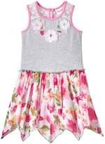 Nannette Toddler Girl Print Hanky-Hem Dress