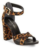 Kenneth Cole Diana Leopard-Print Fur Sandals