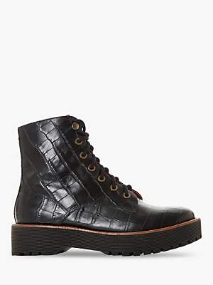Bertie Paper Leather Textured Ankle Boots