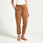 Apricot Brown Paperbag Waist Chino Trousers
