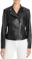 Cole Haan Leather Motorcycle Jacket