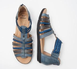 Earth Origins Leather Gladiator Sandals - Belle Blaine