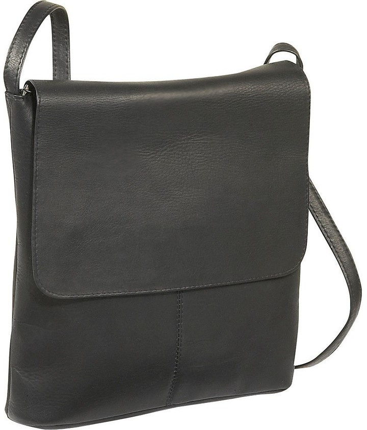 5e04f2683c5d Leather Vertical Large Flap-Over Bag