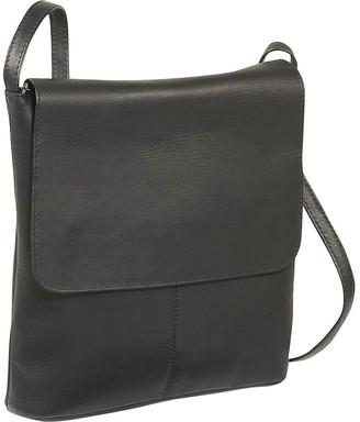 Le Donne Leather Vertical Large Flap-Over Bag