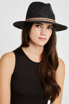 BCBGeneration Tribal Banded Panama Hat - Black