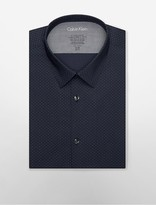 Calvin Klein X Fit Ultra Slim Fit Olive Navy Dress Shirt