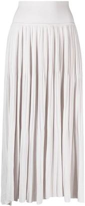 Sminfinity Pleated Slip-On Knitted Skirt
