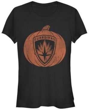 Fifth Sun Marvel Women's Guardians of The Galaxy Halloween Pumpkin Short Sleeve Tee Shirt