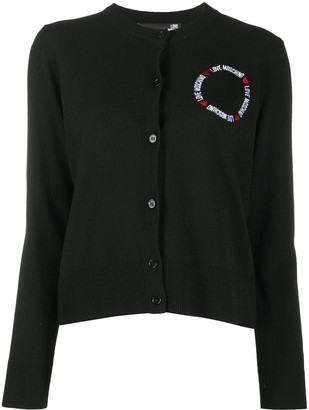 Love Moschino Logo-Embroidered Cardigan