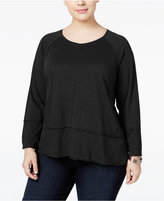 Style&Co. Style & Co. Plus Size High-Low Top, Only at Macy's