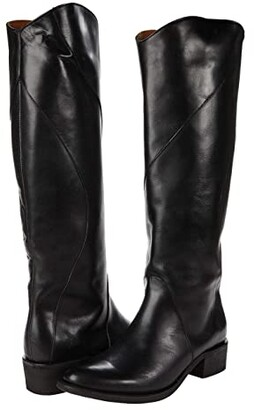 Frye Diana Seam Tall (Black Antique Pull-Up) Women's Boots