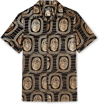 MONITALY Weekend Camp-Collar Cotton-Poplin Shirt