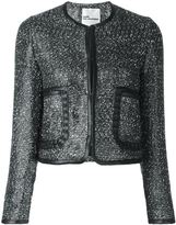 Comme des Garcons shimmering jacket - women - Nylon/Polyester/Cupro/Artificial Leather - S
