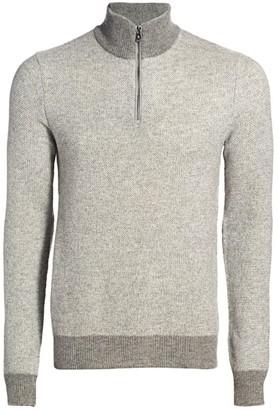 Ralph Lauren Purple Label Half-Zip Cashmere Sweater