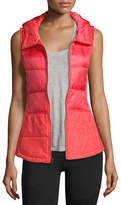 The North Face Pseudio Puffer Hooded Tunic Vest, Cayenne Red
