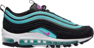 Nike 97 Running Shoes - Black / Hyper Violet Aurora Green