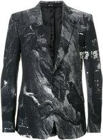 Alexander McQueen raven print blazer