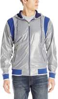 Akademiks Men's Alford Coated Jersey Full Zip Hoody