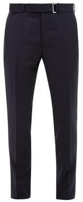 Officine Generale Paul Pinstripe Wool Trousers - Navy White