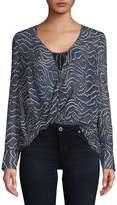 Derek Lam 10 Crosby Women's Drape Front Silk Blouse