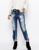 Diesel Rizzo Straight Leg Jeans With Distressing