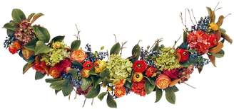 Pottery Barn Faux Fall Garland with Rose and Ranunculus