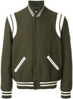 Saint Laurent classic teddy jacket - men - Cotton/Lamb Skin/Polyamide/Virgin Wool - 48