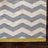 west elm Zigzag Wool Rug - Platinum