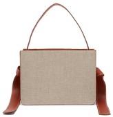Montunas Guaria Linen & Leather Box Bag - Womens - Beige