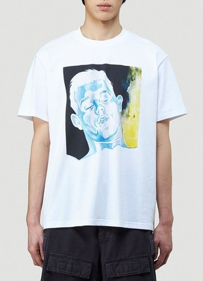 J.W.Anderson Oversized Printed Face T-Shirt