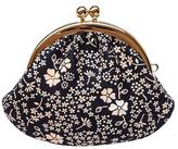 Black Beige Lacquer Deerskin Coin Purse